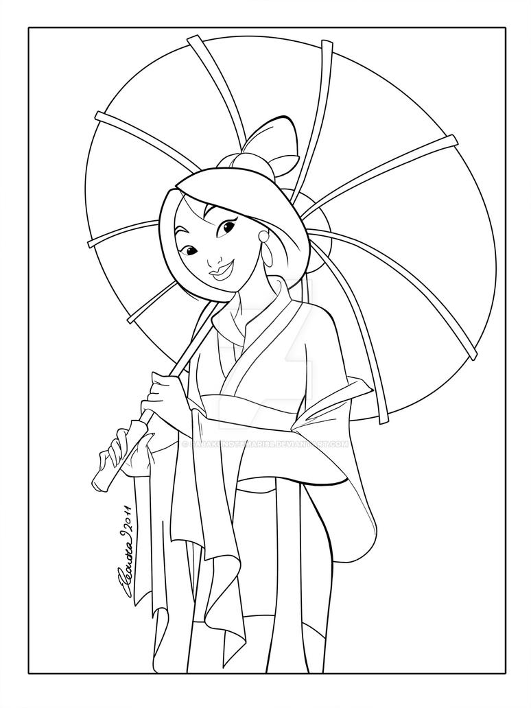 Mulan Coloring Pages Horse