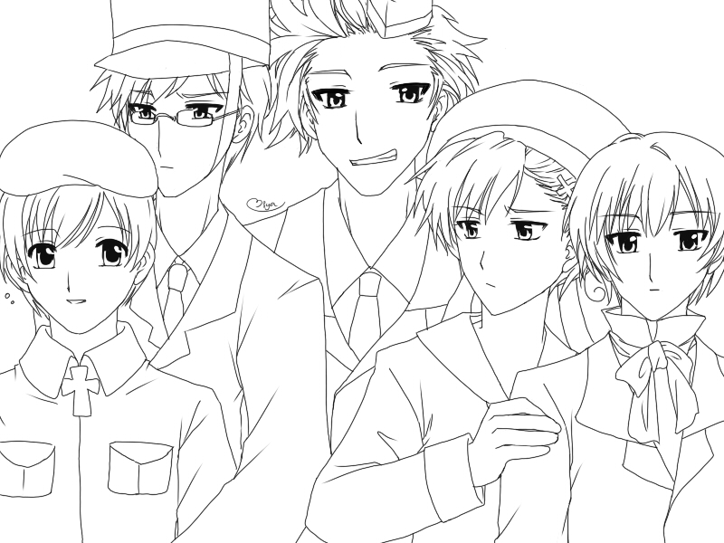 anime hetalia coloring pages - photo#26