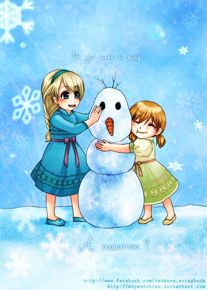 Do you want to build a snowman by miyaotohime on deviantart for I want to make a snowman