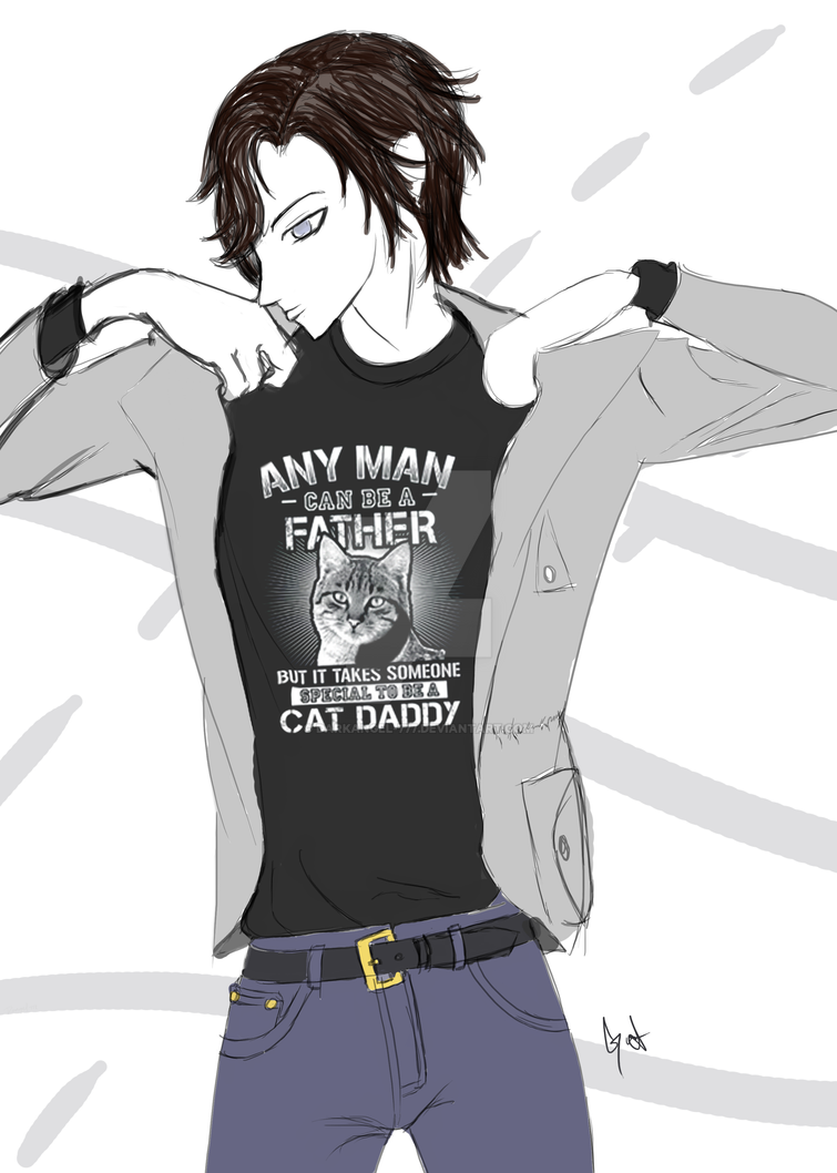 Cat-Daddy by DarkAngel-777