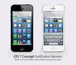 iOS 7 Concept: Notification Banner