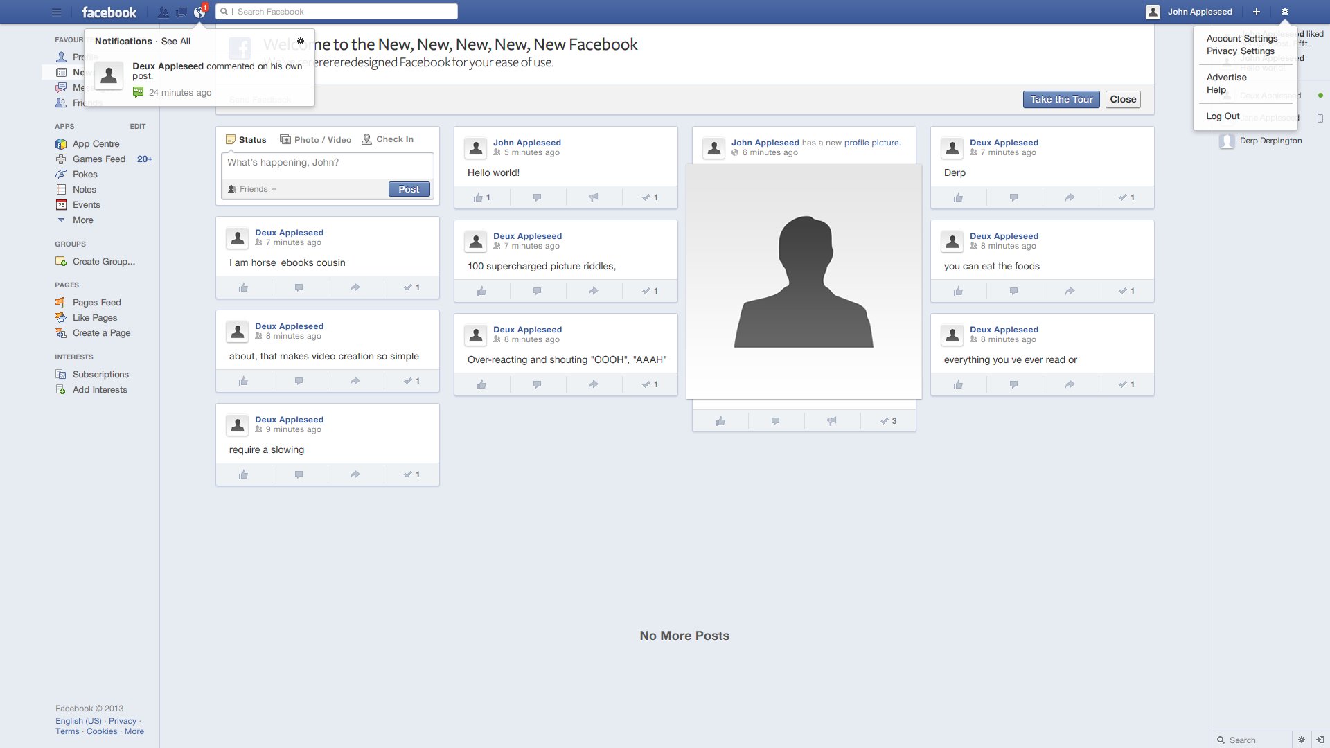 [Update 1.2] Redesigning Facebook: News Feed