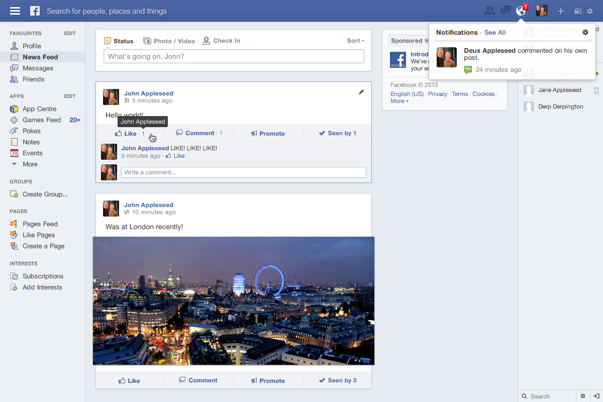 [Update 2.1] Redesigning Facebook: News Feed