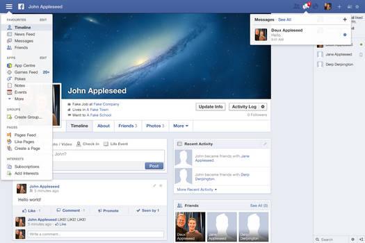 Redesigning Facebook: Timeline