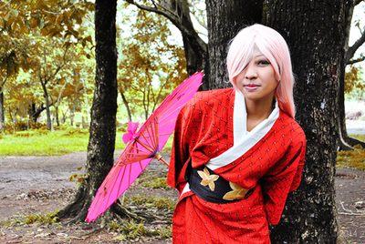 Kimono Series Crimson and Magenta I by chibiomajo