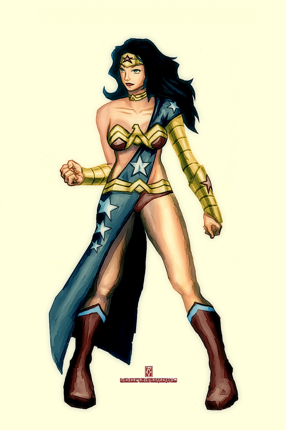Wonder Woman Redesign by nekokawai