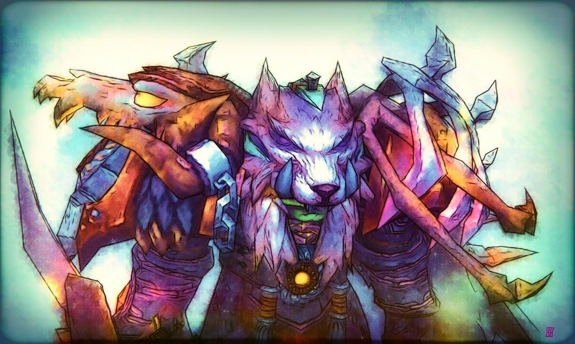 The Orc Elemental Shaman! by nekokawai