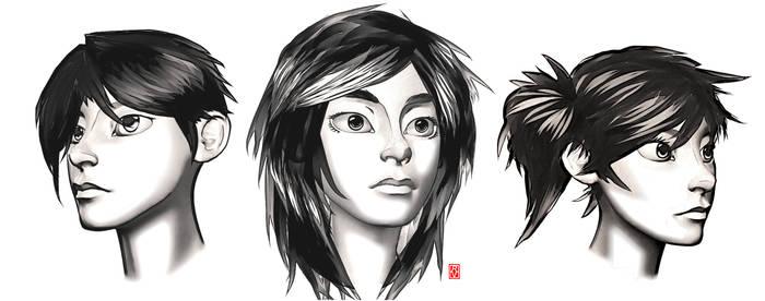 Kitsune faces