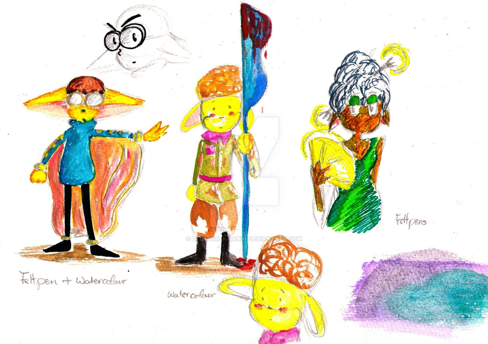 Art doodles by Blue-Aqua-san95
