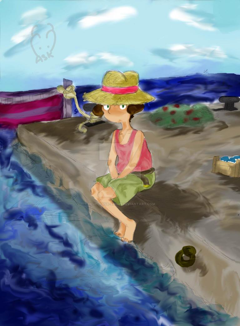 On the pier by Blue-Aqua-san95