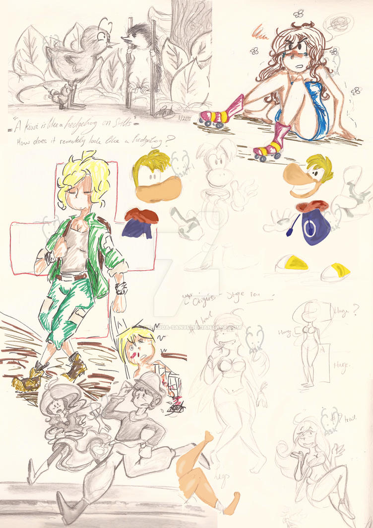 Sketchdump 2013 #1 by Blue-Aqua-san95