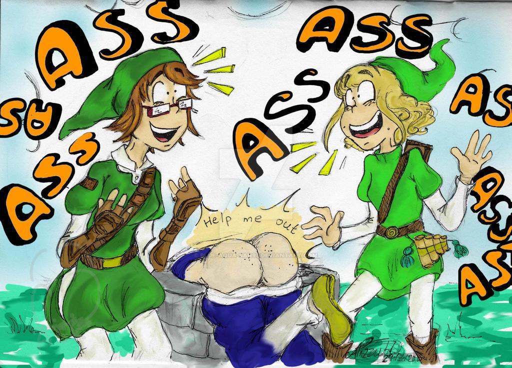BUTT it's funny by Blue-Aqua-san95
