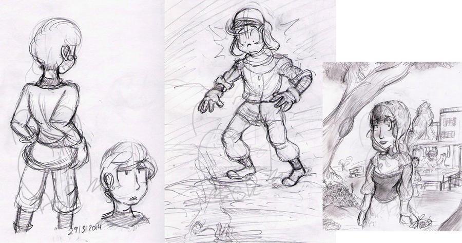 Sketch-Dump  March  2014 by Blue-Aqua-san95