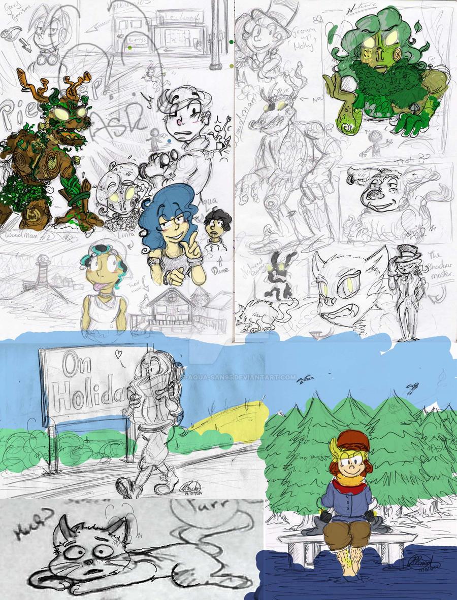 Sketch dump 31.10.14 by Blue-Aqua-san95