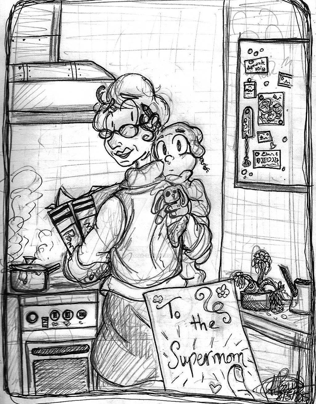 For the supermom by Blue-Aqua-san95