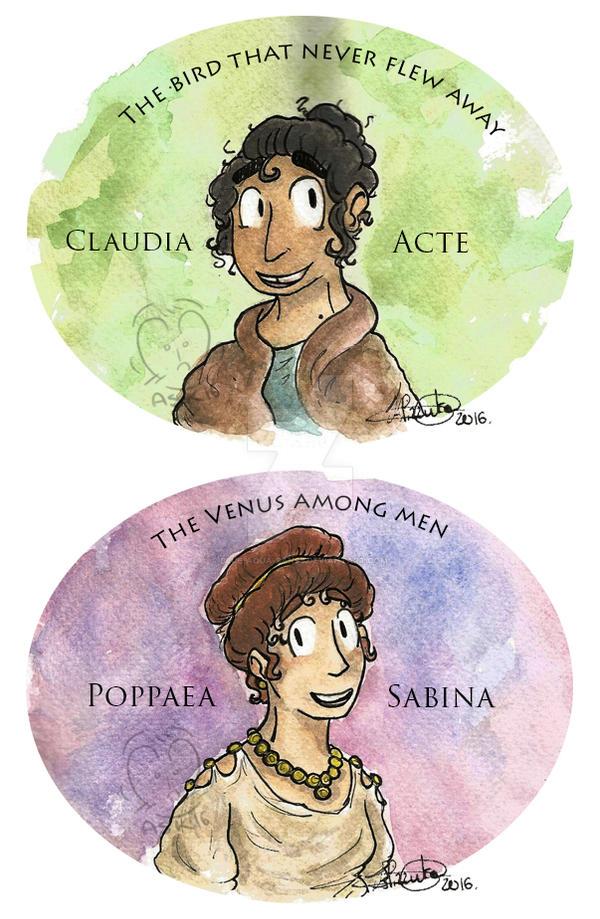 Acte and Poppaea by Blue-Aqua-san95