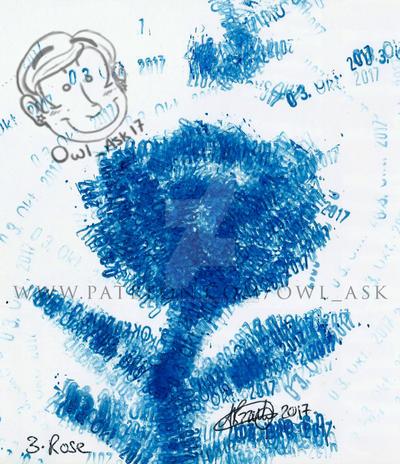 Inktober 2017 - #3 Rose by Blue-Aqua-san95