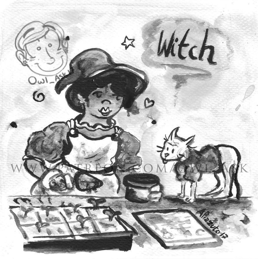 Inktober 2017 - #4 Witch by Blue-Aqua-san95