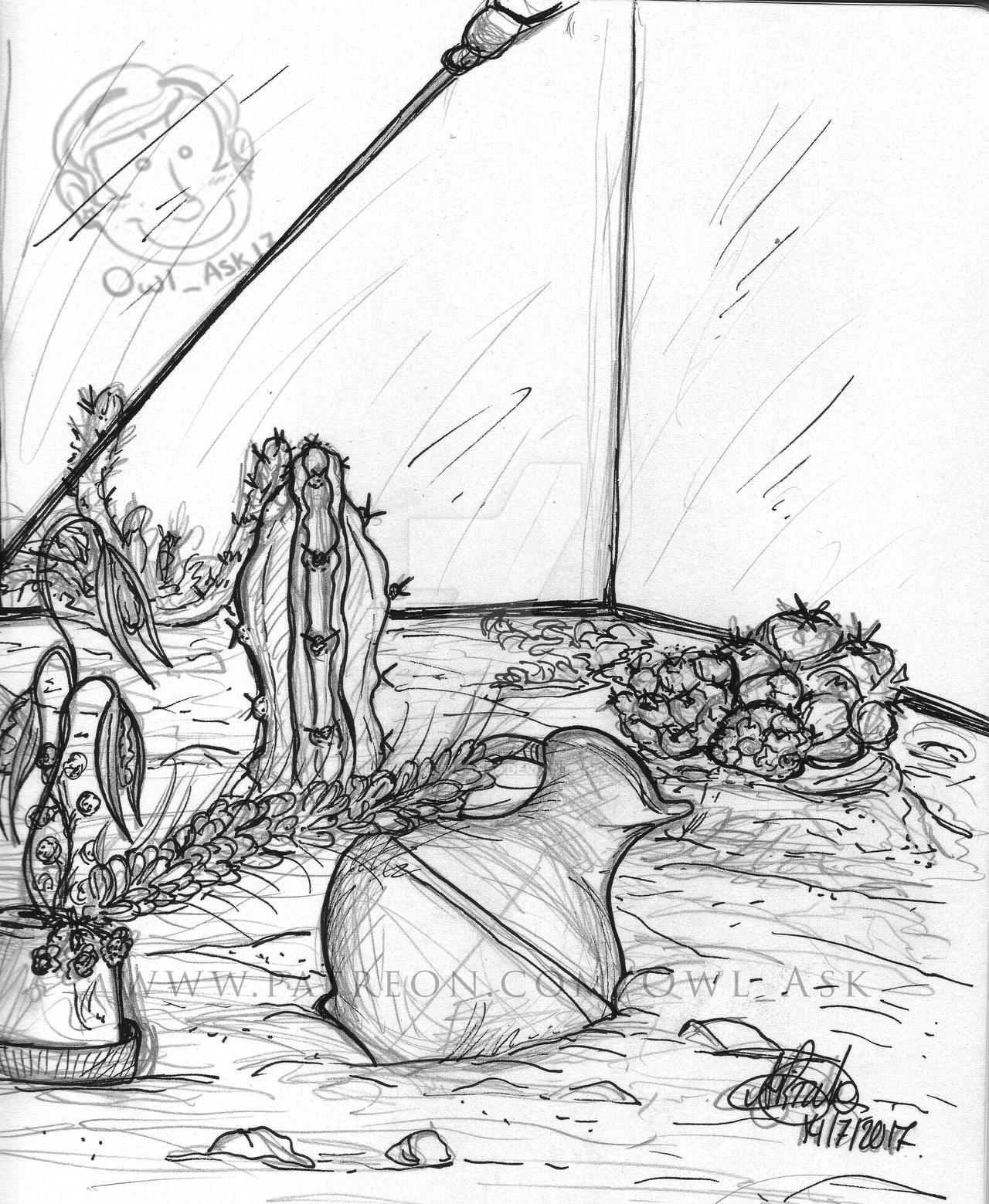 Ask Doodles - Terrarium by Blue-Aqua-san95