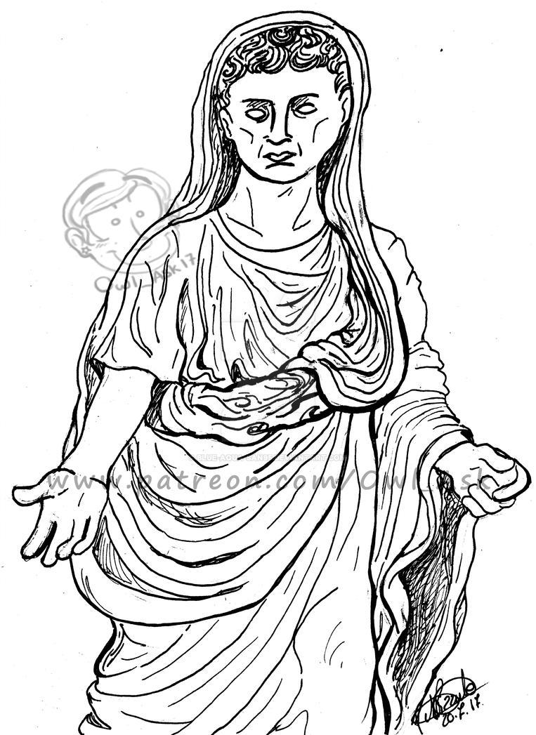 Togatus of Tiberius by Blue-Aqua-san95