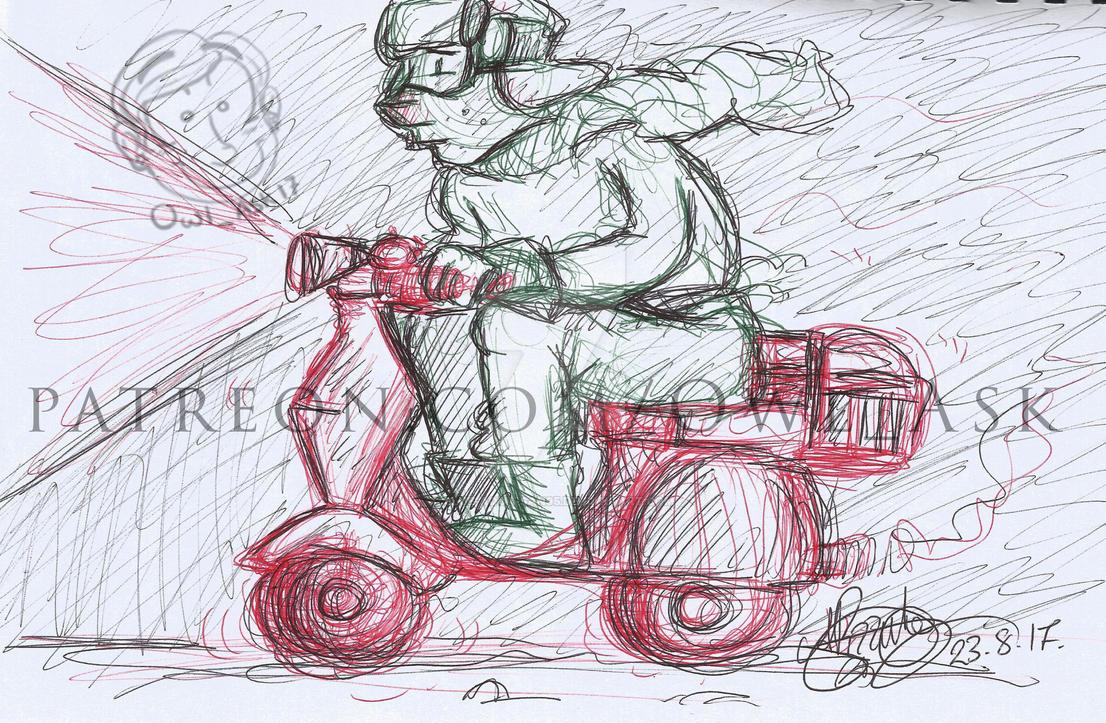 Ask Doodles - Vespa by Blue-Aqua-san95