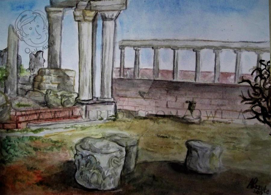 Ask Doodles  - Pergamon by Blue-Aqua-san95