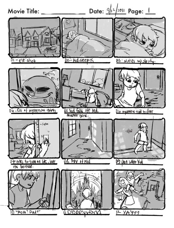 Storyboarding Scrap by emixoO