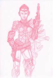 Space Lady Gunfighter by adammdesigns