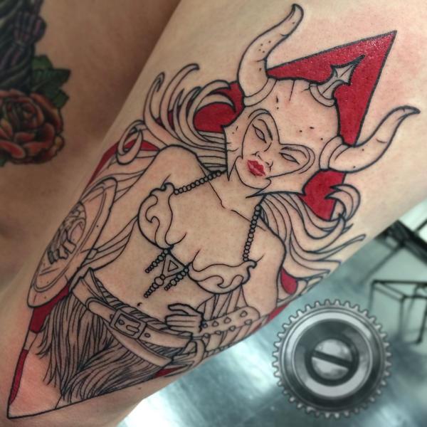 Kali's Warrior Babe WIP by adammdesigns