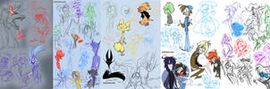 2182012 Livestream doodles by KenDraw