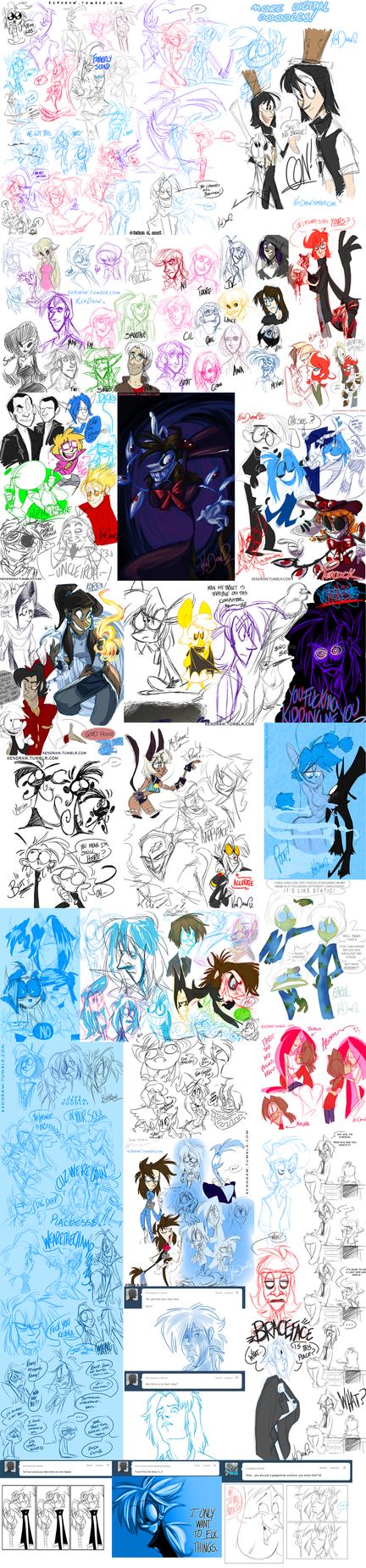 7102012 Digital scribbles by KenDraw