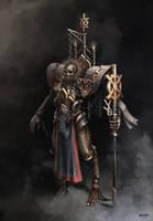 Bone Paladin Concept by Mozmarto
