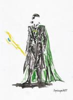 Loki Watercolor by SyringaART