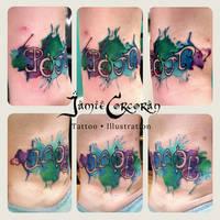 Custom Ambigram Tattoo