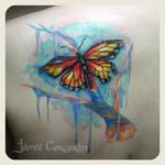 Tattered Monarch Custom Tattoo