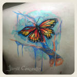 Tattered Monarch Custom Tattoo