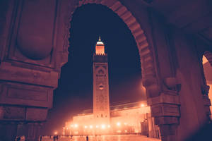 Hassan 2 mosque by night