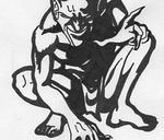 Devil - black and white by BlackMambaTattoo