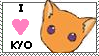 i love kyo stamp by otakulottie