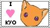 i love kyo stamp by otakulottie