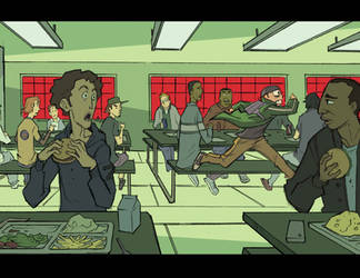 ALCATRAZ HIGH : Cafeteria Run by BobbyRubio