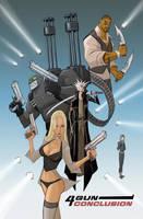 4 GUN CONCLUSION: cover art by BobbyRubio