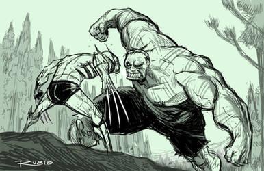 Hulk smash puny Wolverine
