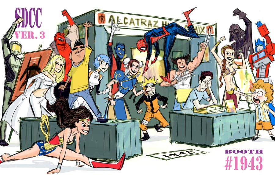 Cosplay Flash Mob Booth Design by BobbyRubio