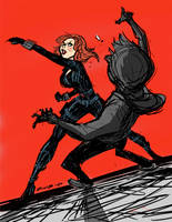Black Widow Avengers by BobbyRubio