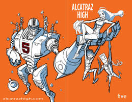 WIP Cover Design Characters for Alcatraz High by BobbyRubio