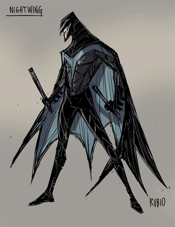 Nightwing Redesign by BobbyRubio