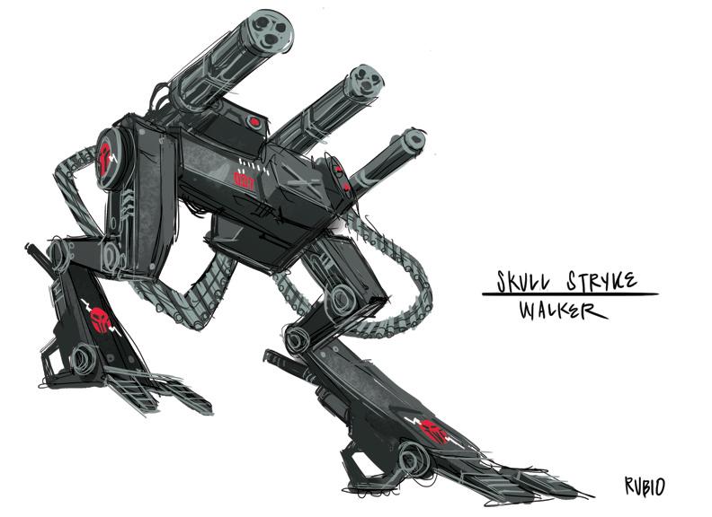 Skull Stryke Walker by BobbyRubio