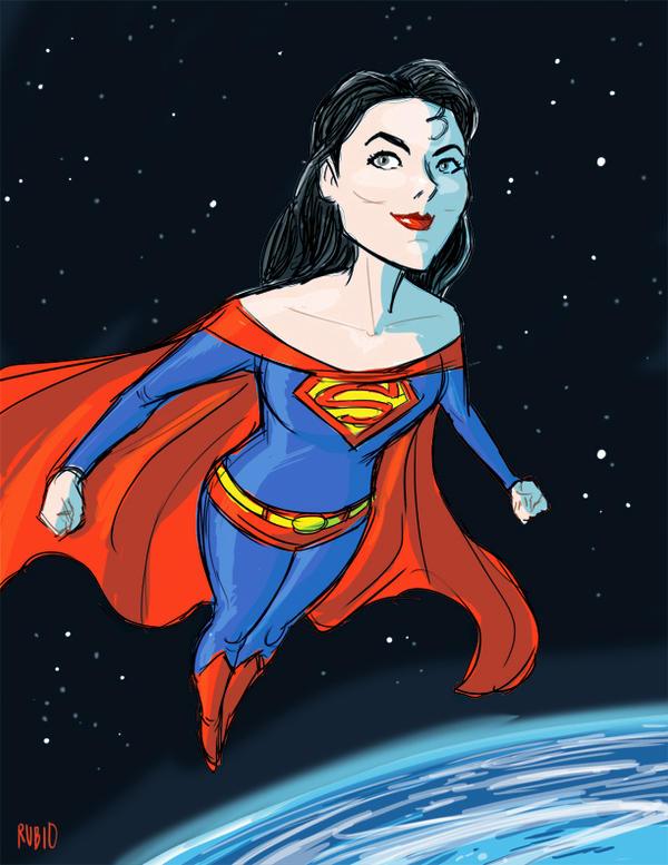 Superma'am Cosplay drawing by BobbyRubio