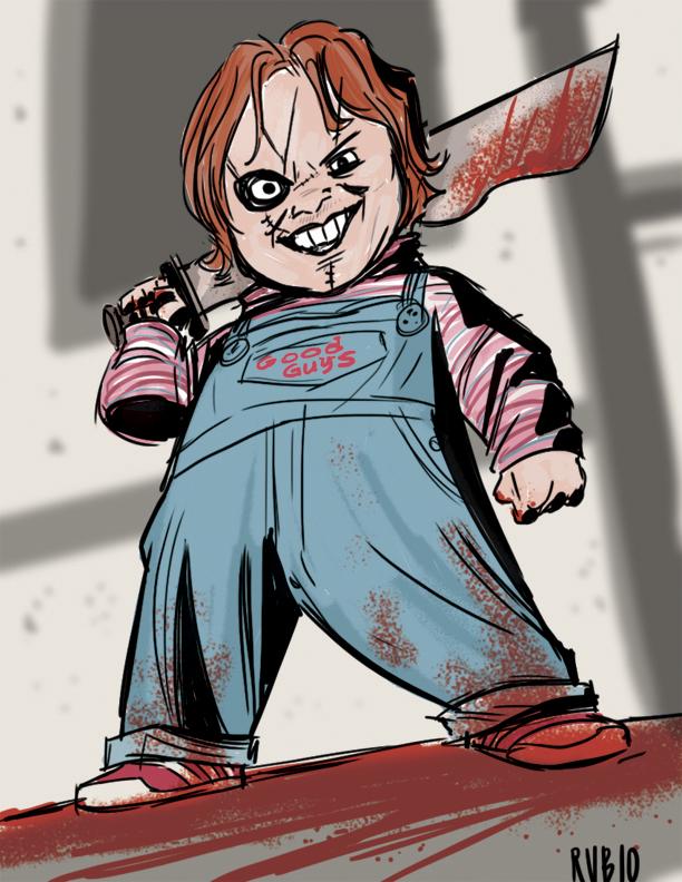 Chucky Cosplay Drawing by BobbyRubio